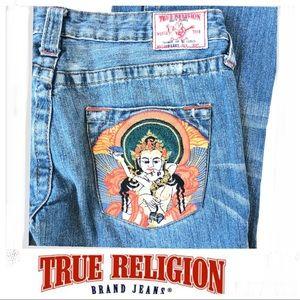 TRUE RELIGION Bobby Buddha Embroidered Sz 29